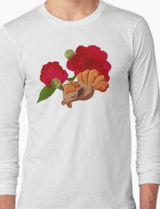 Vulpix with Peonies  Long Sleeve T-Shirt