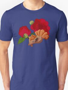 Vulpix with Peonies  Unisex T-Shirt