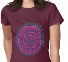Spiked Striped Spiral (purple) Girl T-shirt Womens Fitted T-Shirt
