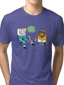 Adventure Time Finn And Jake Swag Tri-blend T-Shirt