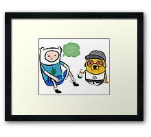 Adventure Time Finn And Jake Swag Framed Print