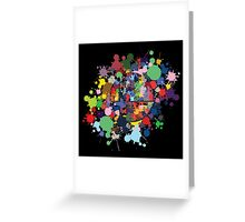 SMASH COLORS! Greeting Card