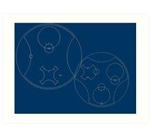 Trust me, I'm the Doctor | Circular Gallifreyan Art Print