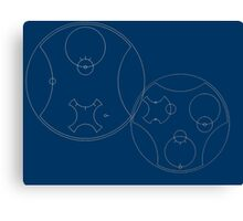 Trust me, I'm the Doctor | Circular Gallifreyan Canvas Print