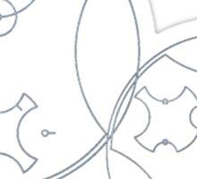 Trust me, I'm the Doctor | Circular Gallifreyan Sticker