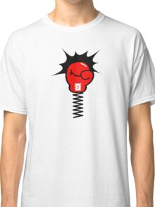 Comic Book Boxing Glove on Spring Pow Classic T-Shirt