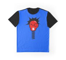 Comic Book Boxing Glove on Spring Pow Graphic T-Shirt