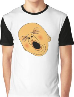 Yawning Baby Bald Man Bored at Work Graphic T-Shirt