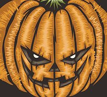 Halloween Pumpkin Scary by Carolina Swagger