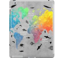 Map of the world grey iPad Case/Skin