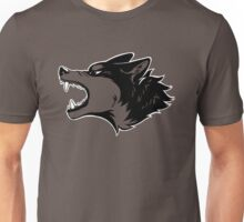 Angry Wolf Tee (Transparent) Unisex T-Shirt