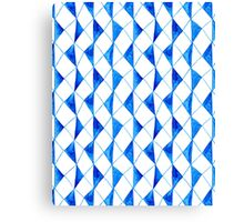Bright blue watercolor rhombuses pattern  Canvas Print