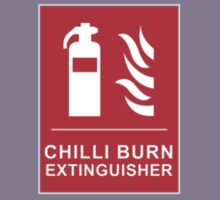 Chilli Burn Fire Extinguisher Funny Spicy Curry Kids Tee