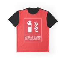 Chilli Burn Fire Extinguisher Funny Spicy Curry Graphic T-Shirt