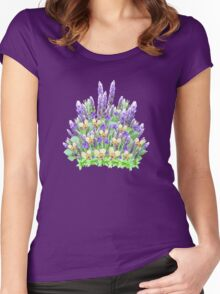 Lavender Sheaf Women's Fitted Scoop T-Shirt