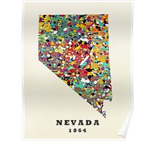 Nevada state map Poster
