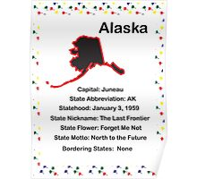 Alaska State Fact Poster Poster