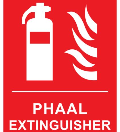 Funny Hot Spicy Curry Phaal Fire Extinguisher Joke Sticker