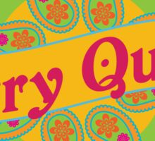 Ethnic Print Curry Queen Spicy Curries Food Addict Sticker