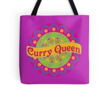 Ethnic Print Curry Queen Spicy Curries Food Addict Tote Bag