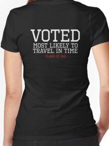 Most Likely to Time Travel Women's Fitted V-Neck T-Shirt