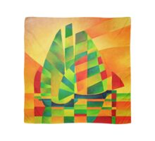 Chinese Junks, Sunset, Sails and Shadows Scarf