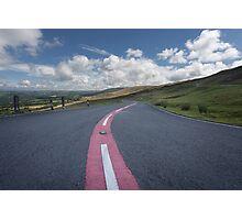 Dangerous road Brecon Photographic Print