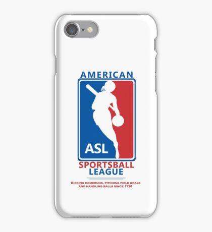 American Sportsball League iPhone Case/Skin