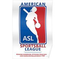 American Sportsball League Poster