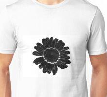 Black flower Unisex T-Shirt