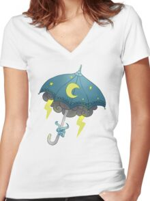 umbrella stars Women's Fitted V-Neck T-Shirt