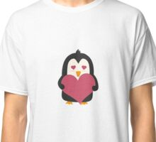 Penguin with a heart   Classic T-Shirt