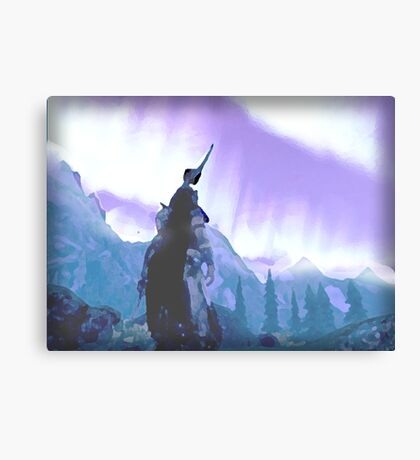 Skyrim Northern Lights Poster (The Elder scrolls)  Canvas Print