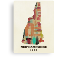 new hampshire state map Canvas Print