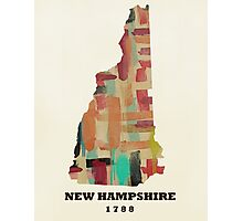 new hampshire state map Photographic Print