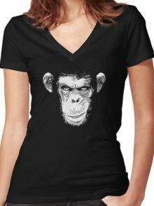 Cool Ape Women's Fitted V-Neck T-Shirt