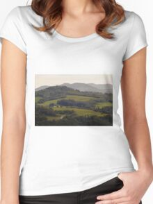 From Vista With A View ©  Women's Fitted Scoop T-Shirt