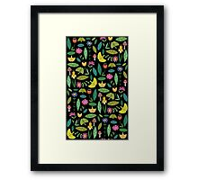 Flower Patch Dark Framed Print