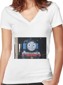 Thomas the Kids Train Women's Fitted V-Neck T-Shirt
