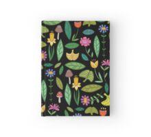 Flower Patch Dark Hardcover Journal