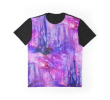 Purple Mountains Abstract Graphic T-Shirt