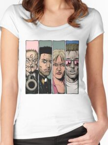 Arseface, Jesse, Tulip and Cassidy from Preacher Women's Fitted Scoop T-Shirt