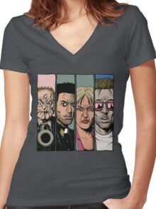 Preacher :Arseface, Jesse, Tulip and Cassidy Women's Fitted V-Neck T-Shirt