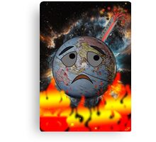 Earth and global warming Canvas Print