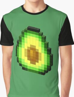 Pixel Avocado Graphic T-Shirt