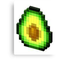 Pixel Avocado Canvas Print