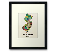 new jersey state map Framed Print
