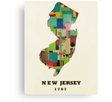 new jersey state map Canvas Print