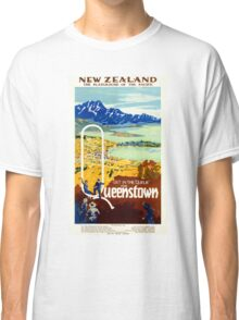Vintage New Zealand Travel Poster Classic T-Shirt