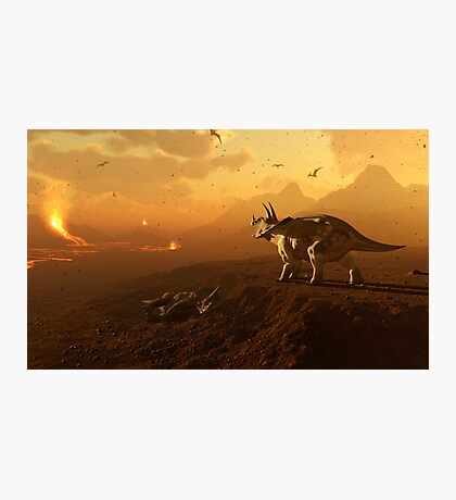 Triceratops - End of Days Photographic Print